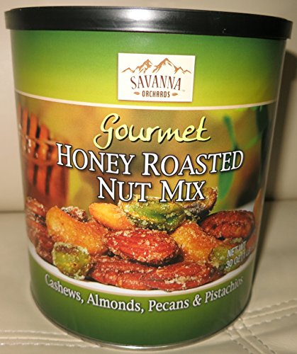 Savanna Orchards Gourmet Honey Roasted Nut Mix – Cashews, Almonds, Pecans and Pistachios (30 oz)