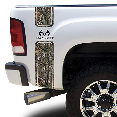 Camowraps (RT-BB-RL-XT) Xtra Camo Bed Band with Realtree Logo (Camo Truck Decals)