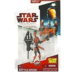 "Star Wars The Clone Wars Animated 3 34"" Rocket Battle Droid Action Figure"