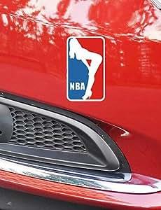 NBCVFUINJ® divertida del deporte del baloncesto pegatina belleza coche pared de la ventana de coche estilo del coche calcomanía (1pcs)