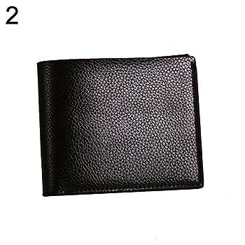 Clearance Deals Bifold Faux Leather Slim Cash Card Photo Holder Fashion Men Short Wallet Gift