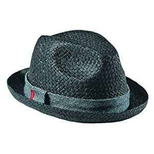 VANS HARRIGAN sombrero de paja FEDORA HAT, BLACK, SML/Med