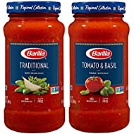 BARILLA Tomato & Basil and Traditional Premium Pasta Sauce Variety Pack, 24 Ounce Jars (Pack of 4) | No Artificial Colors, Flavors or Preservatives | Non-GMO Project Verified