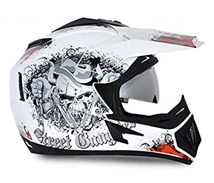 67aef5e7 Image Unavailable. Image not available for. Colour: Vega Off Road Gangster  HE1277 Helmet ...
