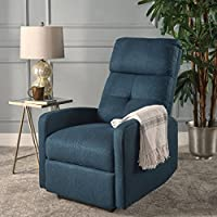 Nero Contemporary Navy Blue Fabric Power Recliner (Navy Blue)
