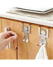 2pcs/Set Stainless Steel Lover Design Kitchen Bathroom Towel Holder Storage Rack Sundries Organizer Home Storage Hanger