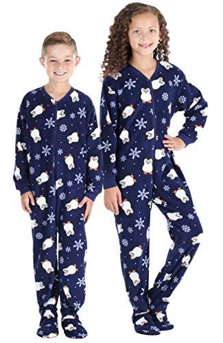 - SleepytimePJs Baby, Toddler, and Kids ' Fleece Footed Onesie Pajamas, Kids Navy Blue Penguins - (ST717-K-3019-12)