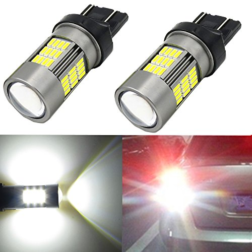 Alla Lighting Super Bright Newest Version 4014 54-SMD 6000K Xenon White LED Lights Bulbs for Auto Back-Up Reverse Lights Lamp Replacement