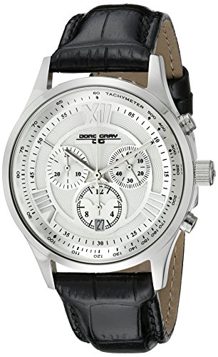 Jorg Gray Men's JG6600-22 Analog Display Quartz Black Watch