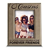 "Bella Busta - ""Cousins"" frame- Engraved Leather Picture Frame"