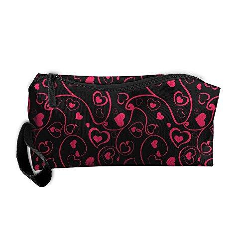 Coin Pouch Swirl Pattern Pen Holder Clutch Wristlet Wallets Purse Portable Storage Case Cosmetic Bags Zipper