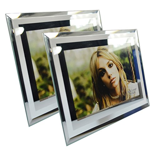 Giftgarden Modern Glass 3.5 by 5 Inch Picture Frame for Photo 3.5x5 - Antique 3 X 5 Picture Frames