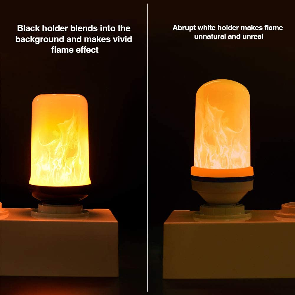 4 Modes Flame Light Bulbs with Gravity Sensor 4 Pack E26// E27 Base Vintage Flame Bulb for Atmosphere Festival Christmas Decoration Omicoo LED Flame Effect Light Bulb