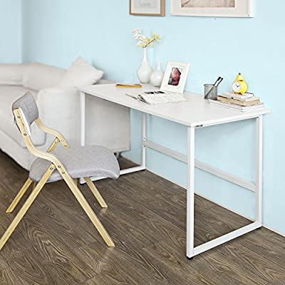 SoBuy FWT3-W Escritorio Informático, lugar de Trabajo, mesa para ...