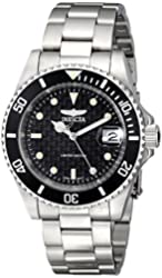 Invicta Men's ILE8926OBA Pro Diver Stainless Steel Watch with Link Bracelet