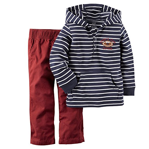 Carter's Baby Boys' 2 Piece Striped Top Set (229g011), Blue/White, 3 Months ()