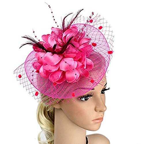 be7690bae0d Fascinators Hat for Women Tea Party Headband Kentucky Derby Wedding ...