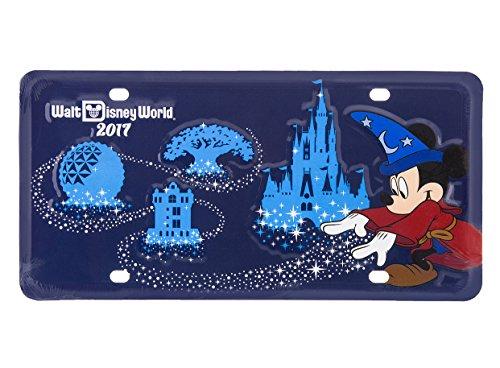 World Walt Disney Plate (Walt Disney World Parks 2017 Car License Plate Tag)