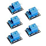 YIKESHU 5v Relay Module,5V 1 Channel Relay Module Board Shield for ARM PIC AVR MCU Control a Motor, a led Strip, Other Module (5pcs)