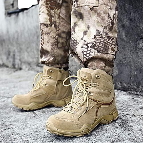 Da Trekking Stivali Outdoor High Alpinismo Desert For Tops Ultralight Uomo Asjunq Combat Beige Tactical Scarpe Army Per Fans Boots YwSFOPq