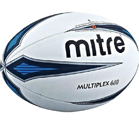 Mitre Multiplex - Balón de Rugby, tamaño 4, Color Blanco: Amazon ...