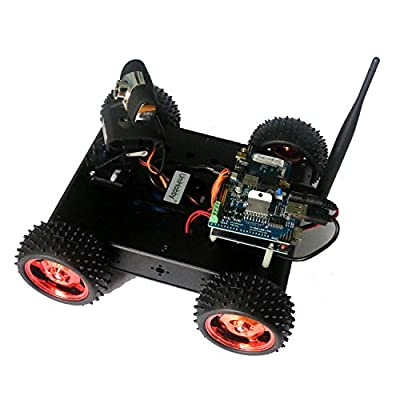 WiFi Robot Car Kit UniHobby HB600 Pro 4WD Arduino Robot Car Chassis Kits with iOS / Android APP and PC Control Software FPV Car Compatible with Raspberry PI 3