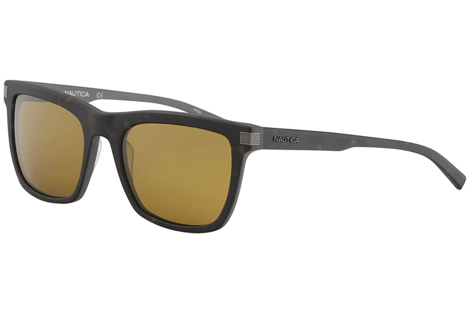 Unisex Authentic NAUTICA N6205S 309 Matte Dark Tortoise Wayfarer Polarized Sunglasses