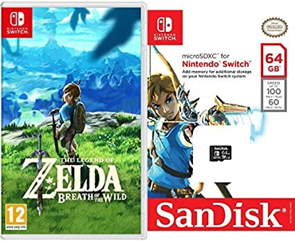 The Legend Of Zelda: Breath Of The Wild + SanDisk - Tarjeta microSDXC de 64 GB para Nintendo Switch: Amazon.es: Videojuegos