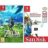 The Legend Of Zelda: Breath Of The Wild + SanDisk - Tarjeta microSDXC de 64 GB para Nintendo Switch