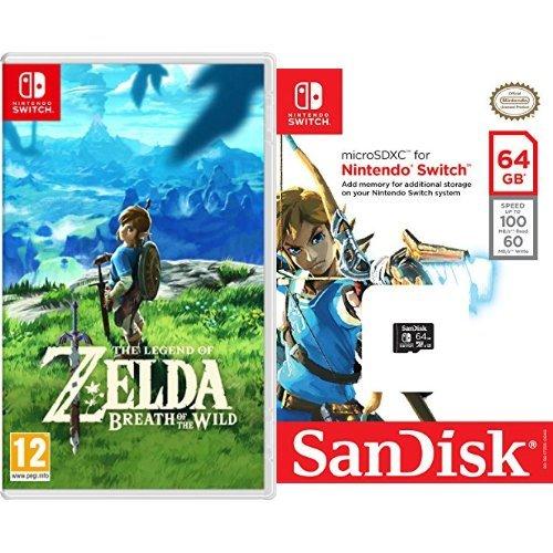 The Legend Of Zelda: Breath Of The Wild + SanDisk - Tarjeta ...