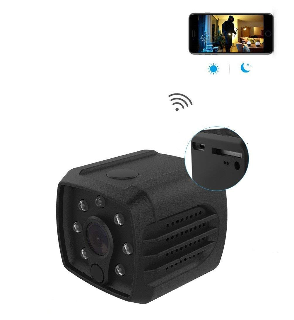 EsiCam Versatile Dash Cam WiFi with Battery Rear View Camera 1080P with Magnet Audio Support SD Card Recording Motion Detection/Night Vision for Smart Phone/Pad/PC Mini Hidden Camera Baby Monitor Nanny Cam