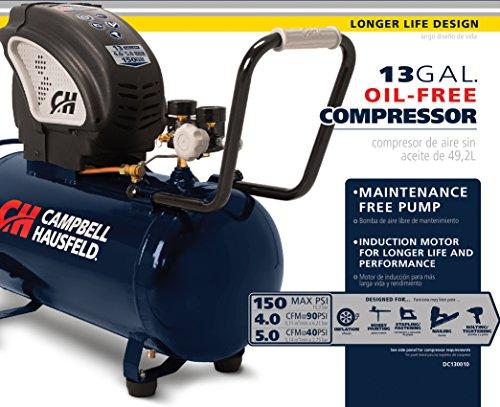 Campbell Hausfeld Air Compressor, 13-gallon Horizontal Oil-free (DC130010)
