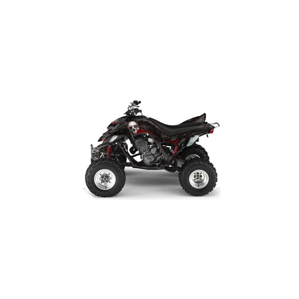 AMR Racing Yamaha Raptor 660 ATV Quad Graphic Kit   Bonecollector Black