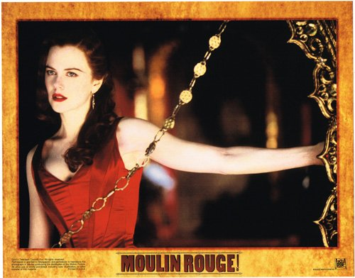 Moulin Rouge original lobby card Nicole Kidman in red dress