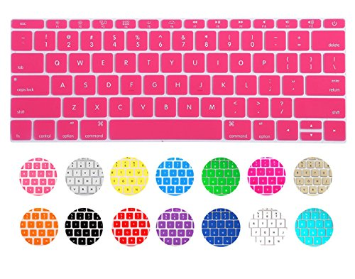 CaseBuy® Ultra Thin Keyboard Protector Skin Cover for New MacBook 12 Inch NEWEST 2015 (Pink)