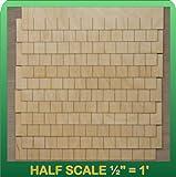 1/2″ Scale Miniature Rectangular Shingle Strips Half Scale, Baby & Kids Zone