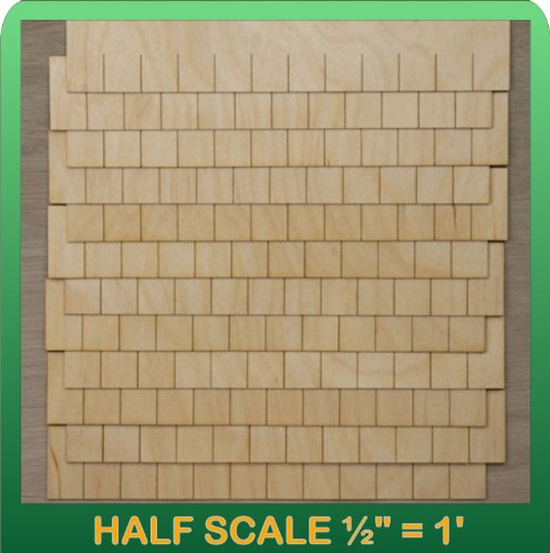 "Greenleaf Doll Houses 1/2"" Scale Miniature Rectangular Shingle Strips Half Scale"