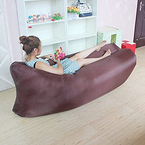 Sesaisi Sofá inflable portátil de dormir, sillón colchón hinchable (Impermeable, carga resistencia de 200kg)