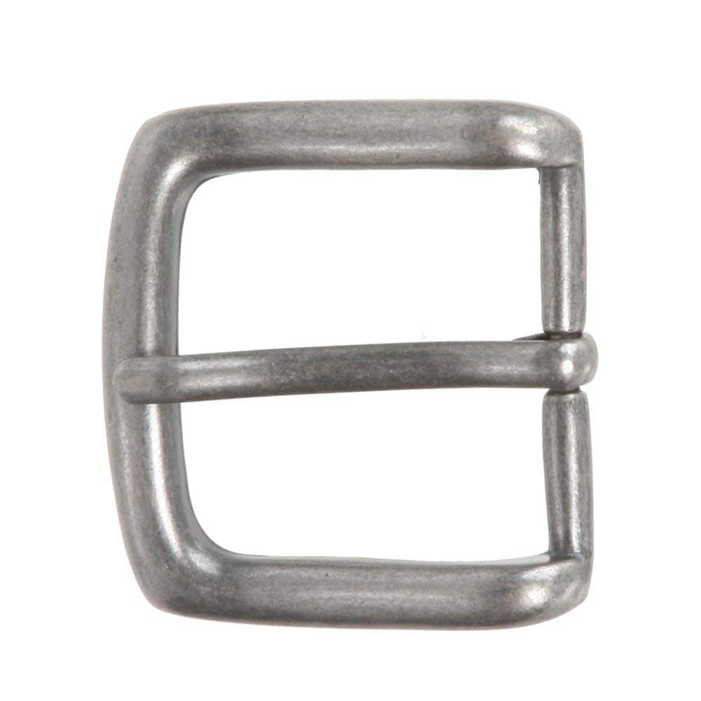 BBBelts Men Antique Brass No Nickel Single Prong Square Buckle For 1-1//2 Belts