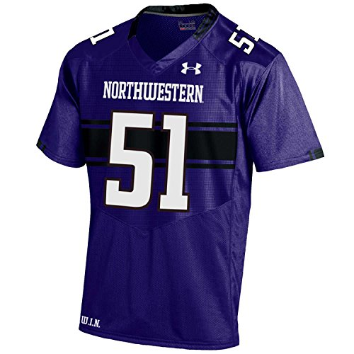 Under Armour NCAA Northwestern Wildcats FG175125C65 Childrens Official Sideline Jersey, X-Large, Purple