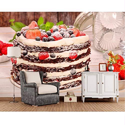 Pmhhc Fotomural Sweet Cake Berry Fresa Comida Foto Torte Fondo De ...