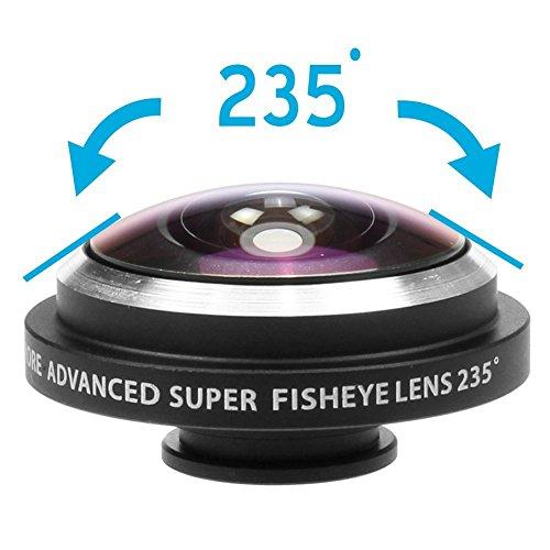 Apexel 235 Grad Super Fisheye/Fischaugenobjektiv mit Case-Handyschutzhülle für Apple iPhone 4/4S