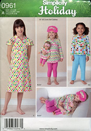 Buy matching girl and doll dress patterns - 9