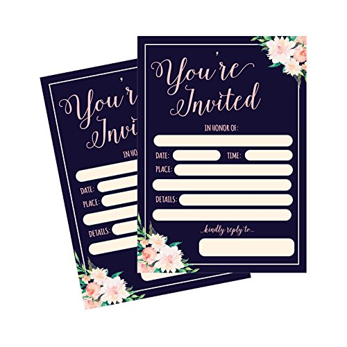 50 Fill In Invitations, Wedding Invitations, Bridal Shower Invitations, Rehearsal Dinner, Dinner Invitations, Baby Shower Invitations, Bachelorette Party Invitations, Engagement, Sweet 16, Graduation by Hadley Designs