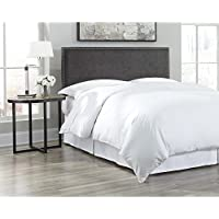 Fashion Bed Group B72800 Zurich Upholstered Adjustable Headboard Panel with Hand Applied Nailhead Trim, Pewter Finish, King/Cal King