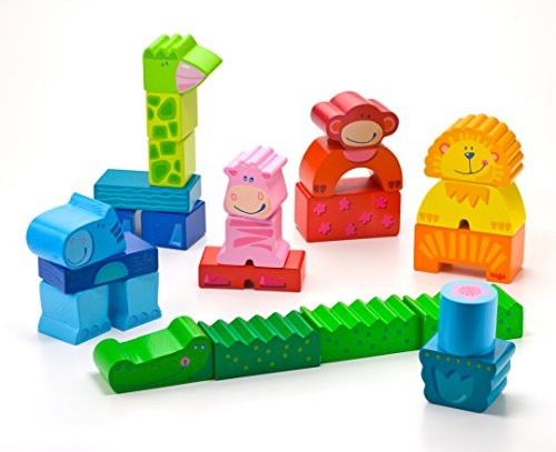 HABA Zippity Zoo - 25 Piece Mix & Match Animal Block Set