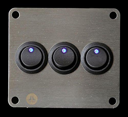 Wohnmobil Boot 12/V Blau LED Panel Single Schalter Lek Tek
