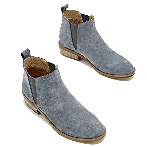 Signore Casual In gray Scarpe Caviglia Basse In Pelle Di Scamosciata Confortevoli Calde Scarpe Pelle Delle Scarpe Elastiche awZIXzqa