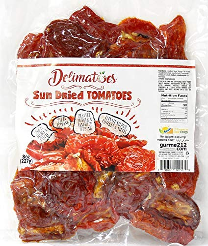 (Gurme212 Delimatoes 8 oz Sun Dried Tomato Halves (Other sizes available))