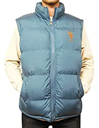 Men's Basic Puffer Vest with Large Pony Logo